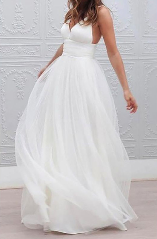 Dreamy, isn't it? Custom made beach bridal gown by Likhomanova Couture.