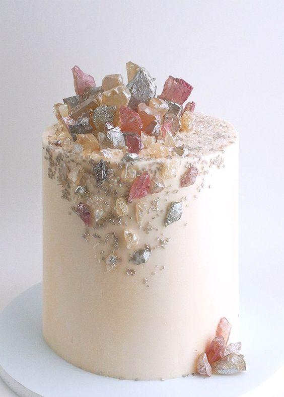 Dreamy crystal cake by Alana Jones-Mann.