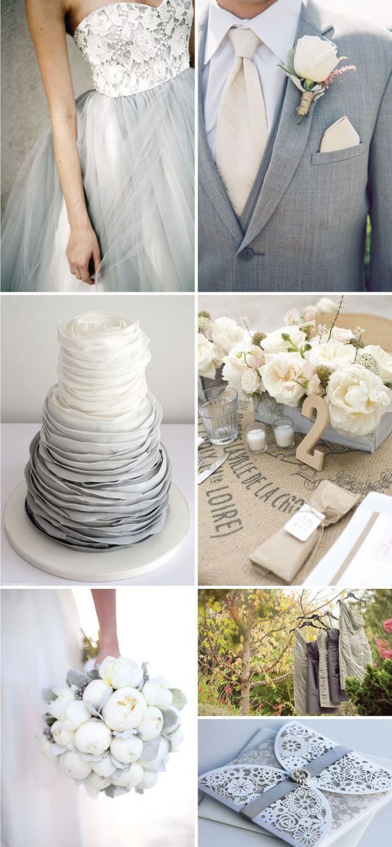 Decoraci n para bodas en color gris combinaciones e ideas - Decoracion salon gris y blanco ...