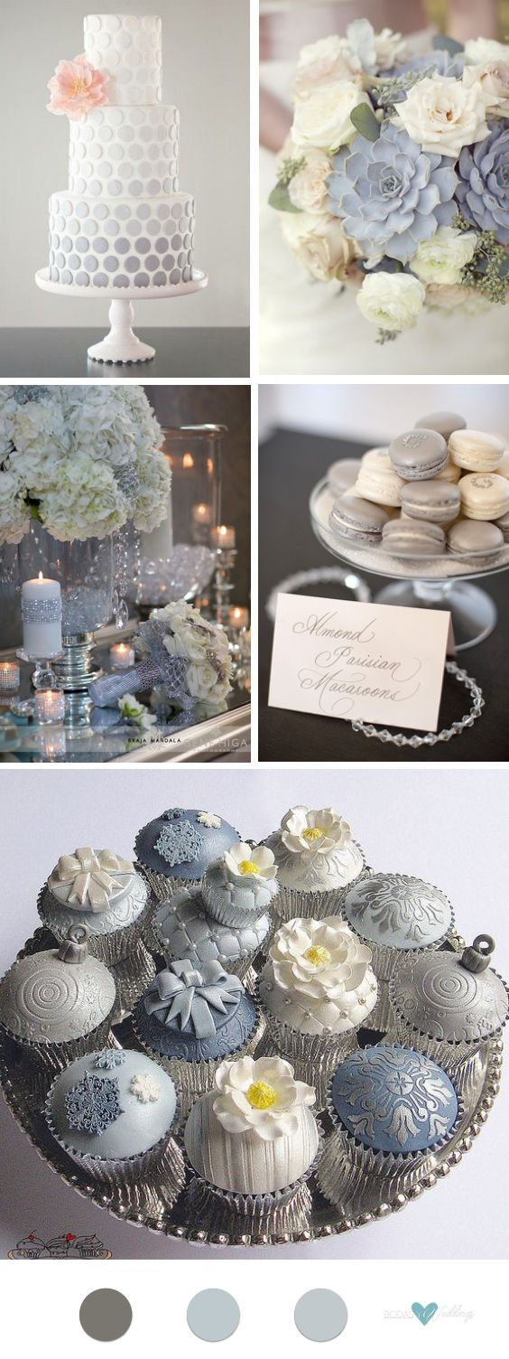 decoracin para bodas en color gris y blanco preciosa y simple torta de bodas con