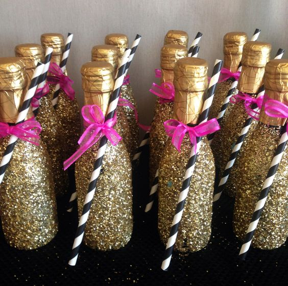 Un champagne bar para tu fiesta de despedida de soltera.