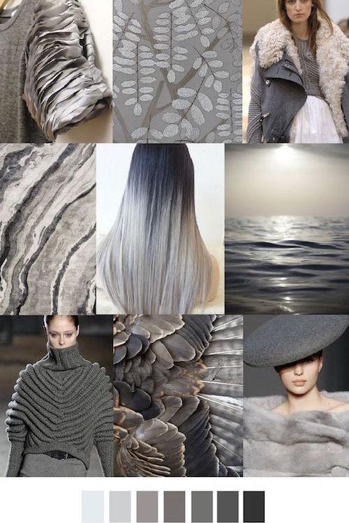 Gray palette 2017 wedding colors.