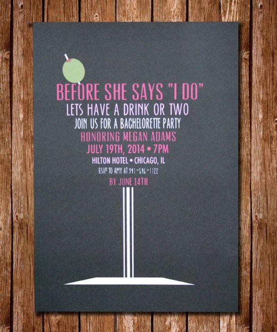 Divertidas y coquetas invitaciones para despedidas de soltera.