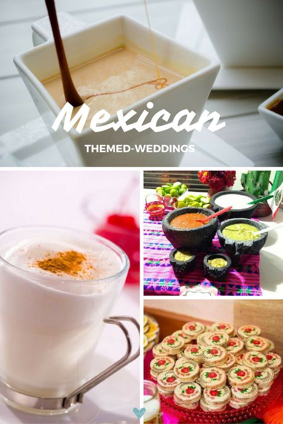 Love Mexican-themed weddings! Throw out the cheese and crackers platter and mix up your amuse-bouche platter with some classic but always delicious atole. Atole de Almendra - Hot milk with cinnamon - Photo by Lubomir Lipov.