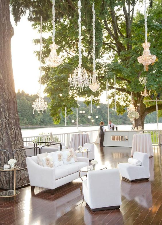 Relaxed, chic and welcoming modern french wedding lounge.