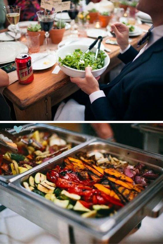 Los Angeles sustainable wedding catering company Eco-Caters, All organic, green sustainable buffet wedding ideas. Photography: Rachel and Sarah Take Pictures.