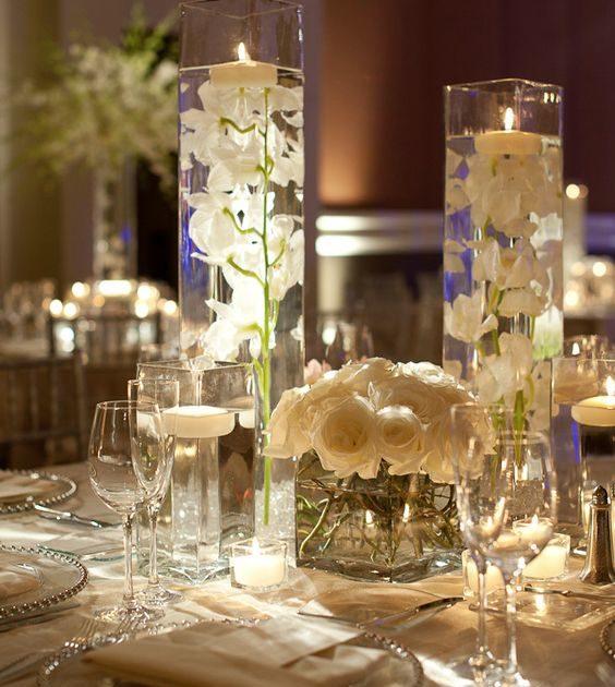 Ideas para una recepción de bodas super chic de Edge Flowers.