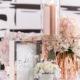 Decoración de bodas en oro rosado con temática francesa vintage glam.