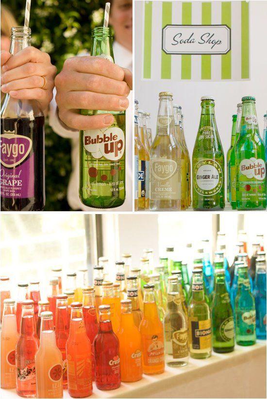 Fuente de soda... adorable para una boda vintage.