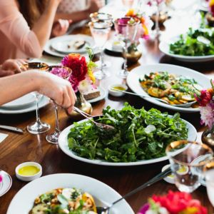 We share tips for planning a sustainable, locally sourced menu. Photography: Chaz Cruz. Purslane Catering.