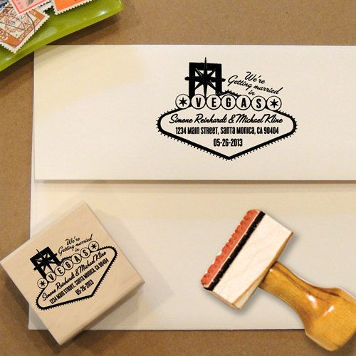 Address stamp for Las Vegas weddings sign, great for Save the Dates & wedding invitations!