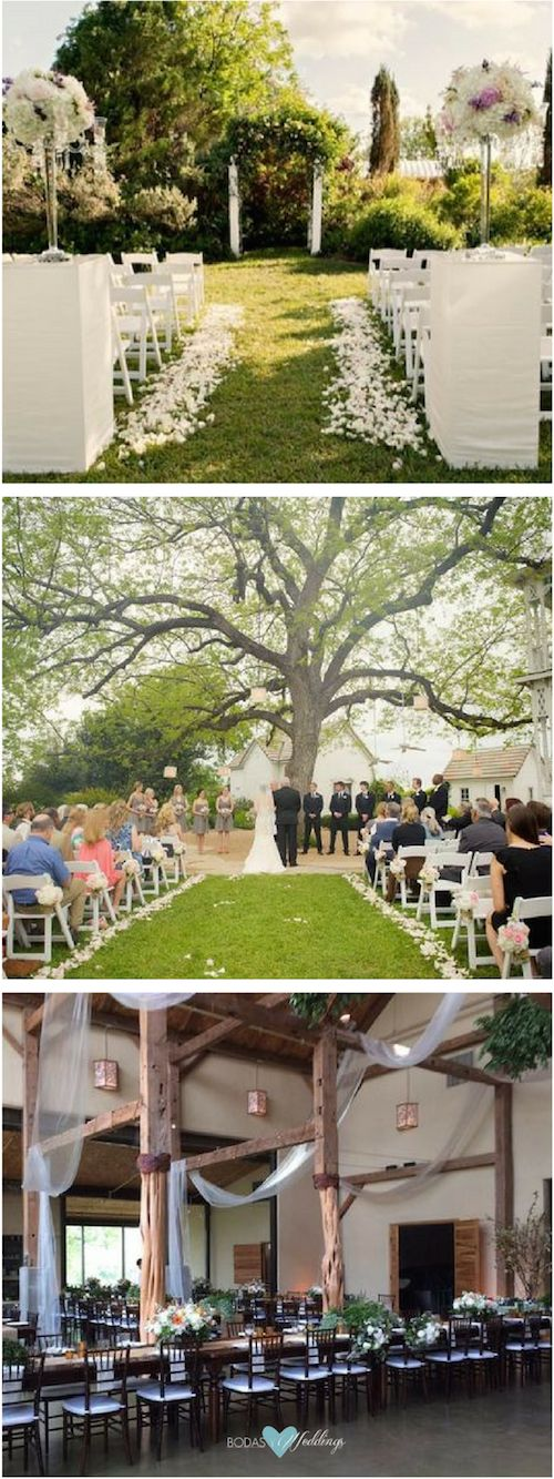 Austin, Texas wedding venues: The Barr Mansion. A wedding under the pecan tree. Photo credit: Katherine O'Brien Photography & Bloom Photography.