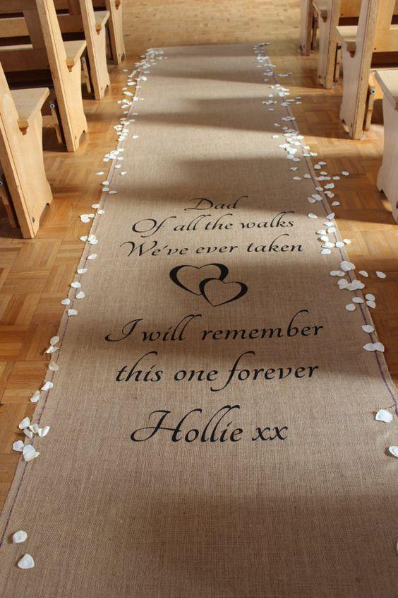 Camino personalizado para tu boda civil.