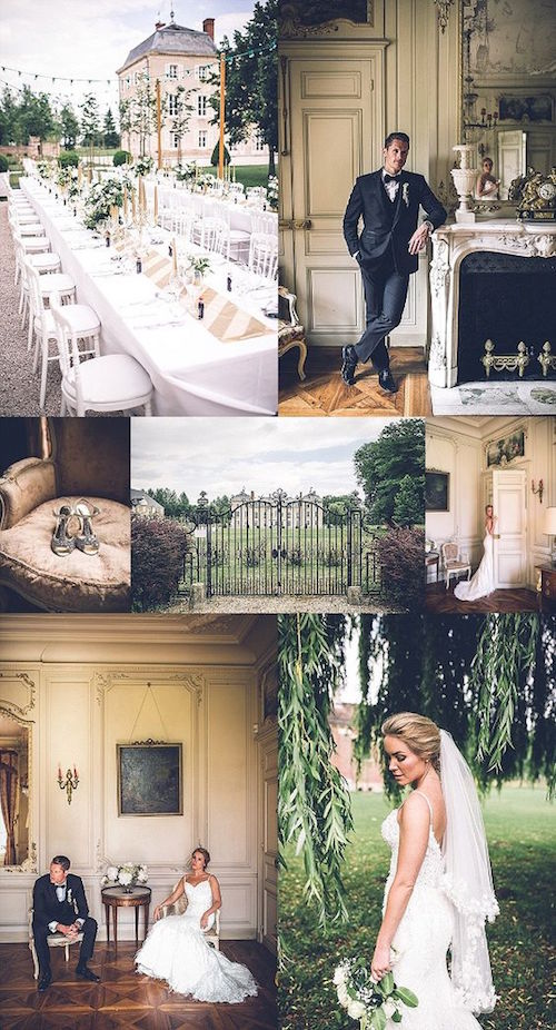Dreamy destination wedding at Château de Varennes. Photo credit: Amy Faith Photography.