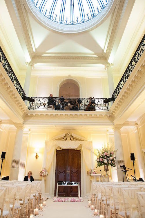 Decoración de una boda civil en Hedsor House. Country House Wedding Venues.