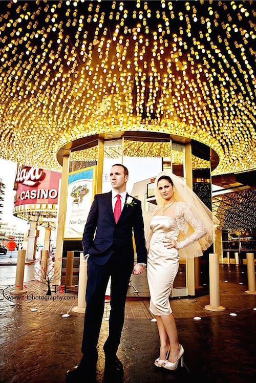 Get married in Las Vegas vintage-style. Photo credit: TSL Photography wedding photographer.