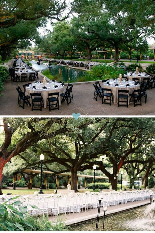 Houston Zoo wedding venue: Romantic wedding reception at the naturally wild Houston Zoo wedding venue. Photo: 100layercake.