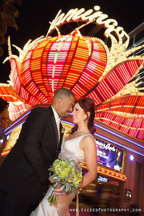 Las Vegas Strip elopement, the latest rage in weddings today! Photo Credit: exceedphotography Las Vegas Event and Wedding Photographer.