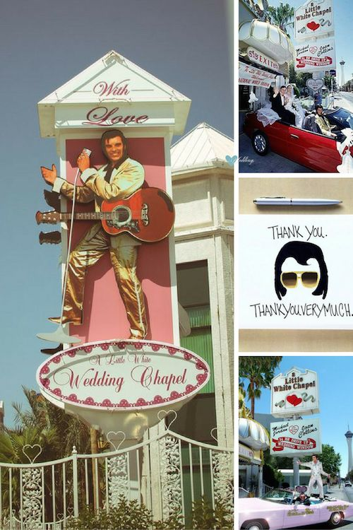 The uniqueness of the Little White Chapel drive thru windows includes tux rental on site. Thank You Cards for Las Vegas weddings.