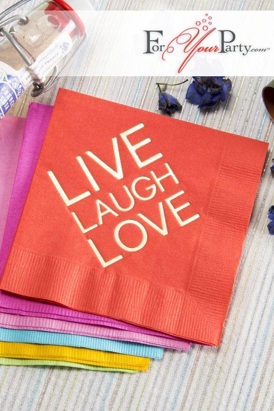 Personaliza tus servilletas de papel y lucirán mil veces mejor.