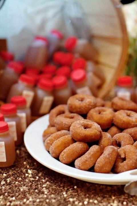 Recuerdos comestibles para bodas en otoño. ¿Quién no quiere una doughnut?