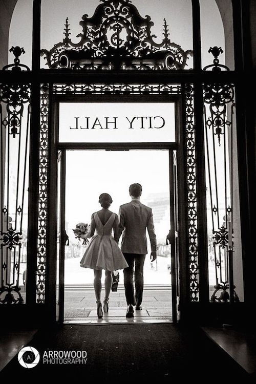 Casamiento en el San Francisco City Hall. Fotografía: Arrowood Photography.