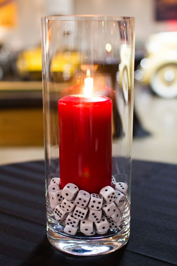 Lady luck will be on your side with these Sin City-themed original wedding centerpieces designed by Every Little Detail Event Planning and Design.