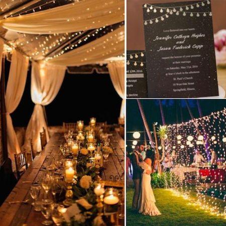 A magical night needs to be announced by a string of twinkling lights