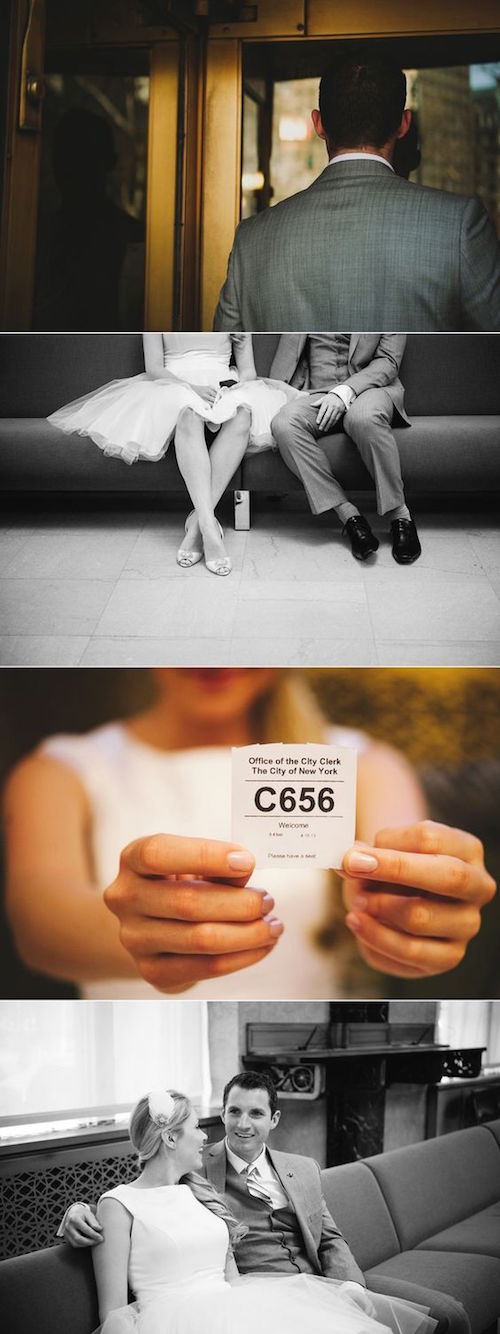 Simpática boda en New York City Hall! Fotografía: katiejanephoto.