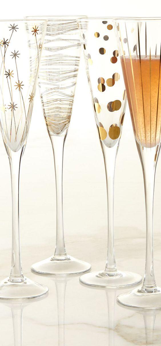 Ideas modernas para decorar copas para bodas.