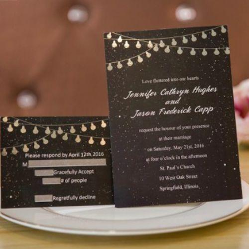 Invitaciones con luces y magia