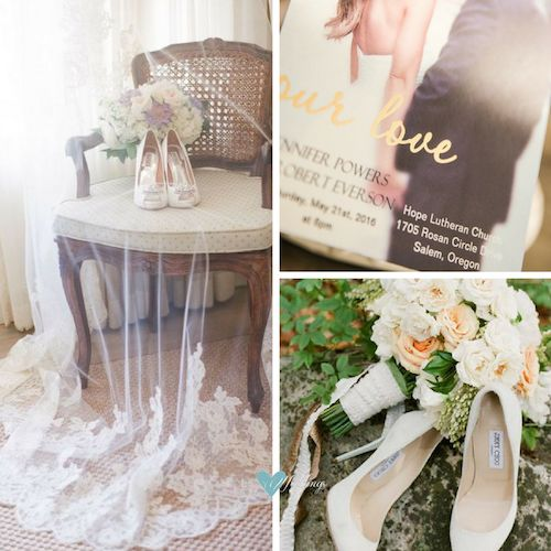 Modern French wedding ideas. Photo wedding invitation with foil-stamped gold lettering Get it here!