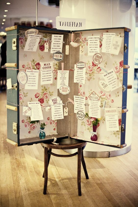 Lovely and original wedding DIY for a table plan.
