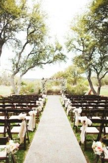The Vista West Ranch was built from the ground up to provide couples with a unique experience you could only find in Texas. Picturesque outdoor aisle at Vista West Ranch.