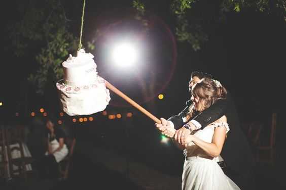 How does a piñata cake sound instead of the classic cake cutting ceremony?