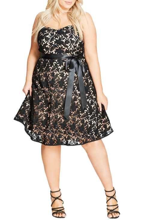 Un vestido de fiesta para gorditas que gustan lucir sus curvas.
