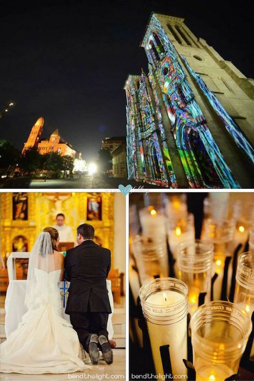 A stunning wedding ceremony at the San Fernando Cathedral, the oldest church in Texas, in San Antonio, Texas. Photo: benthelight & Billy Calzada /San Antonio Express-News.