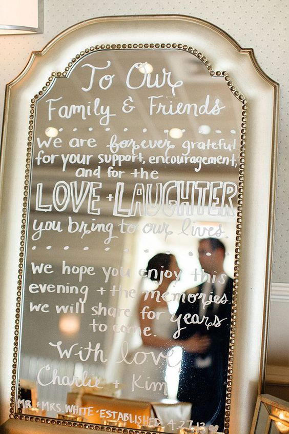 A wedding sign idea that you can easily incorporate into your ceremony or reception decor!