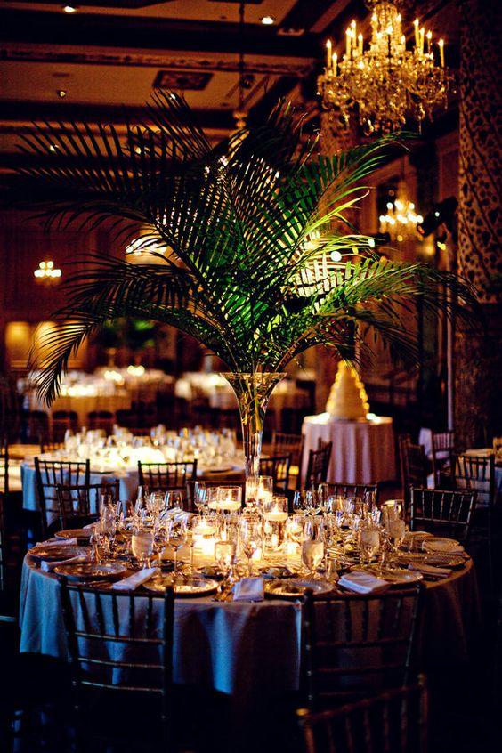 Boda con temática tropical en Chicago. Fotografía: Olivia Leigh Photographie.