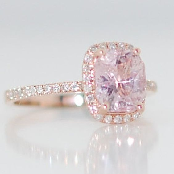 Champagne sapphire engagement ring 14k by EidelPrecious.