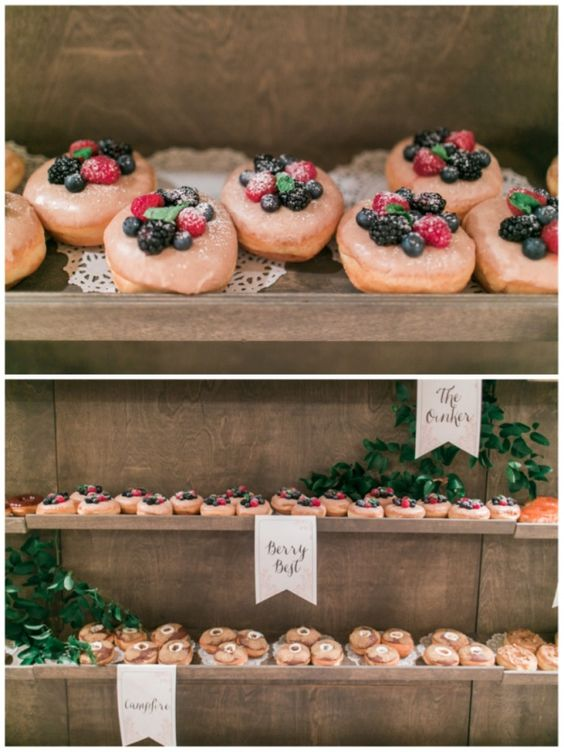 Doughnut Walls The Next Big Thing At Weddings. Photo: Troy Grover Photographers & Donuts from Donut Snob.