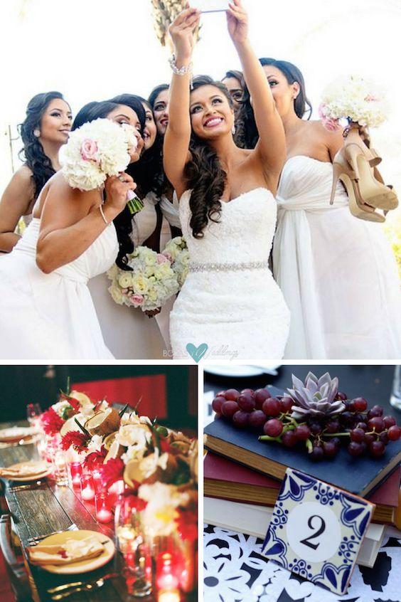 Magníficos detalles y estilo, este clásico de bodas cubanas es romántico, atemporal y tradicional! Centros tropicales para una boda con estilo cubano. Encaja perfectamente con el tema de las bodas cubanas ... azulejos de Talavera