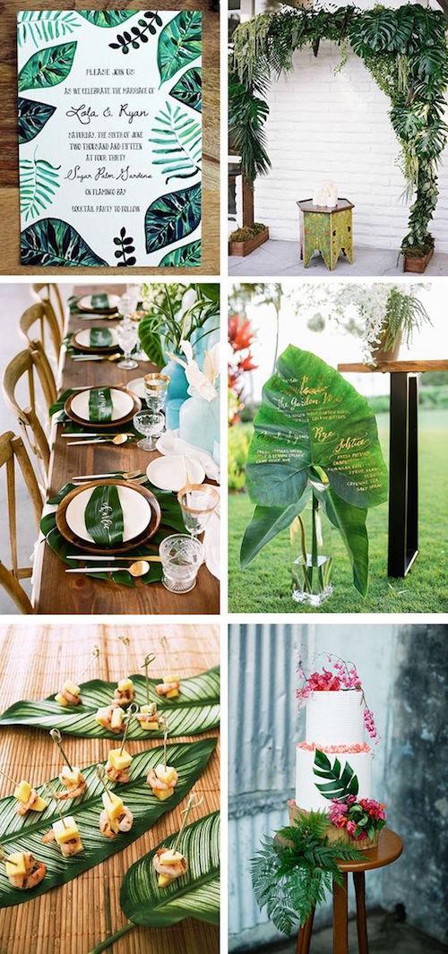 Ideas para incorporar las hojas de palma en las bodas Cubanas.