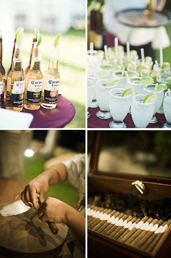 Margaritas, coronas & cigarros.. para bodas tropicales.