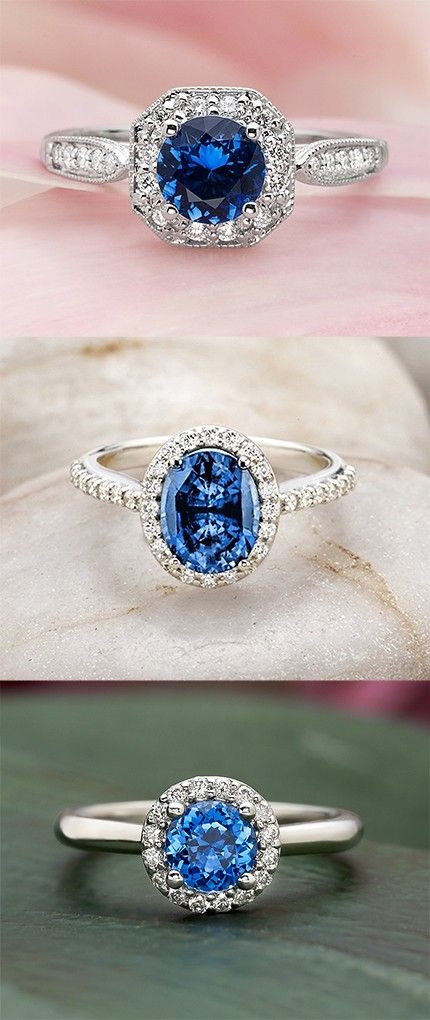 Even though the traditional engagement ring carries a diamond, mossianite, sapphires, and other precious gemstones are really in fashion. Gorgeous sapphire engagement rings.