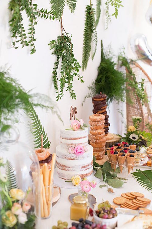 If you were going to do a doughnut bar, this is how you do it! Towers of doughnuts of all shapes and sizes. It couldn't get any better.