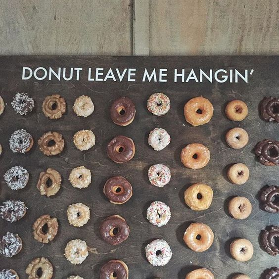 Perfect for the late night munchies and being the latest (and super affordable) rage in weddings, doughnut walls are a must on yours. You donut want to miss this!