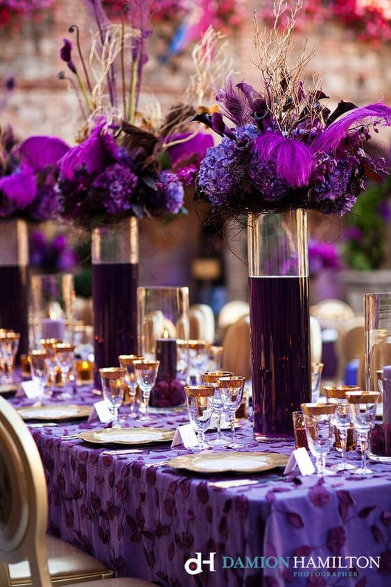 Purple passion wedding inspiration. Photography Damion Hamilton.