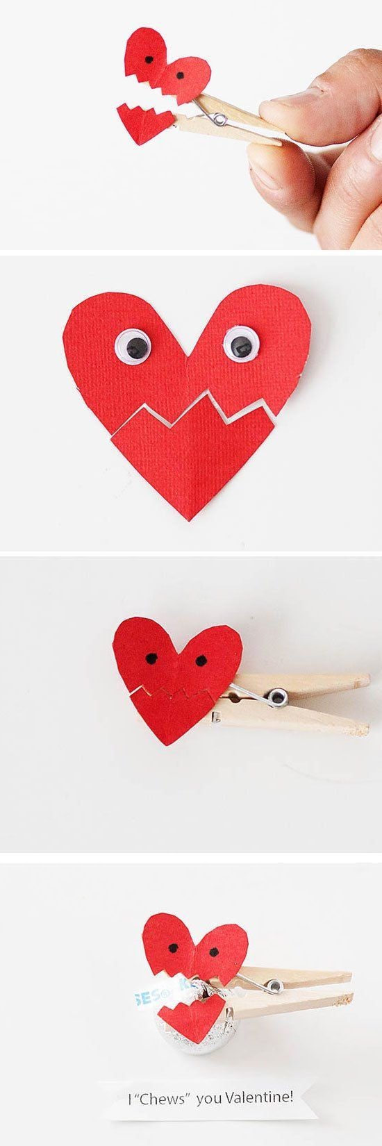 Fun Valentine's Day crafts for anyone to make! I Chews You, Valentine! So simple to do and so cute! Check out the tutorial on the blog.