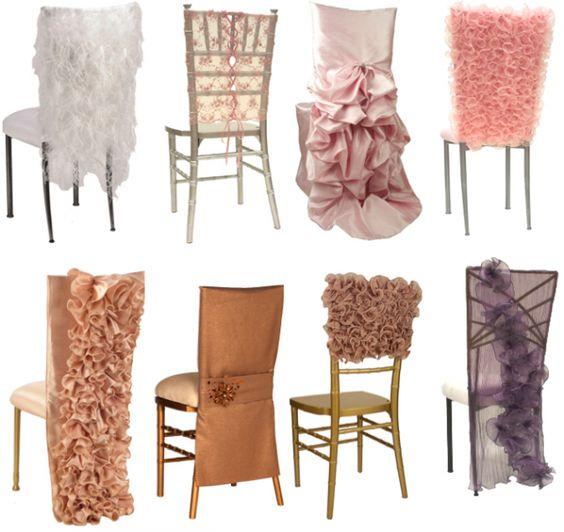 Ideas para vestir sillas de boda. ¿A que no te imaginaste que había tantas?